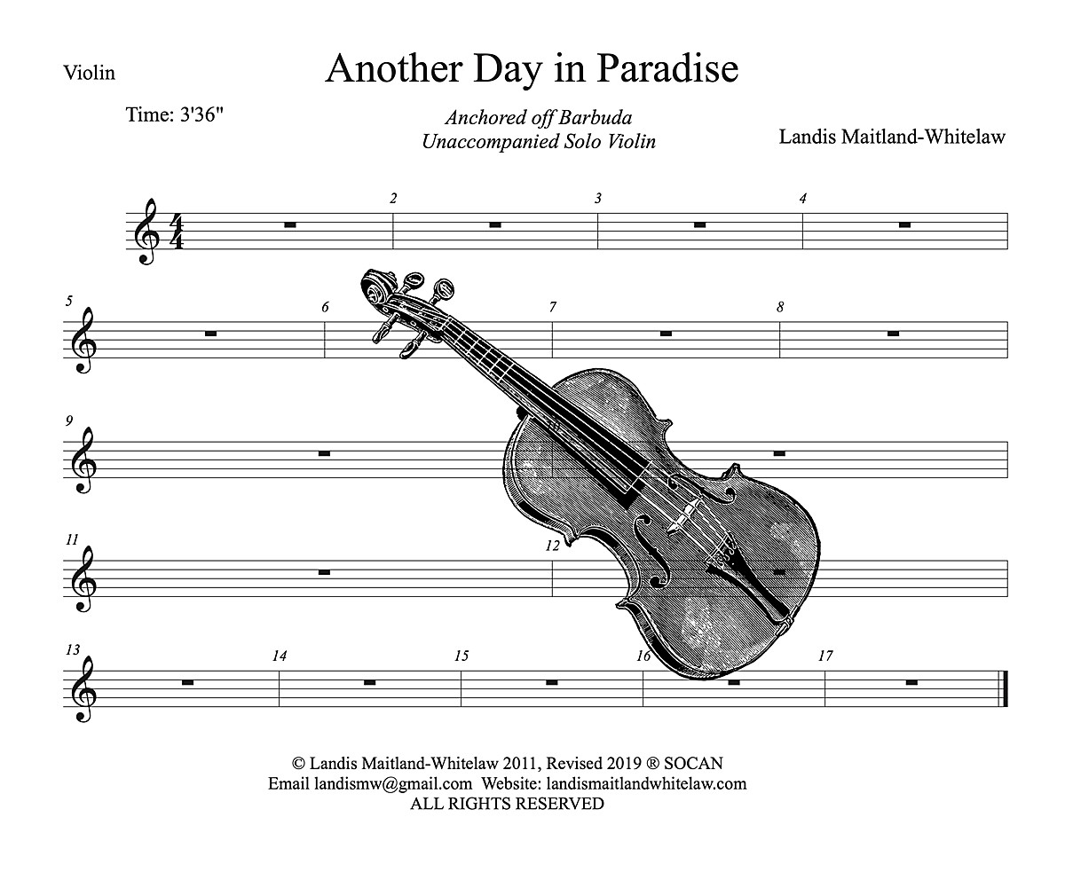 Another Day In Paradise-Chamber-Solo-Violin-Landis Maitland-Whitelaw