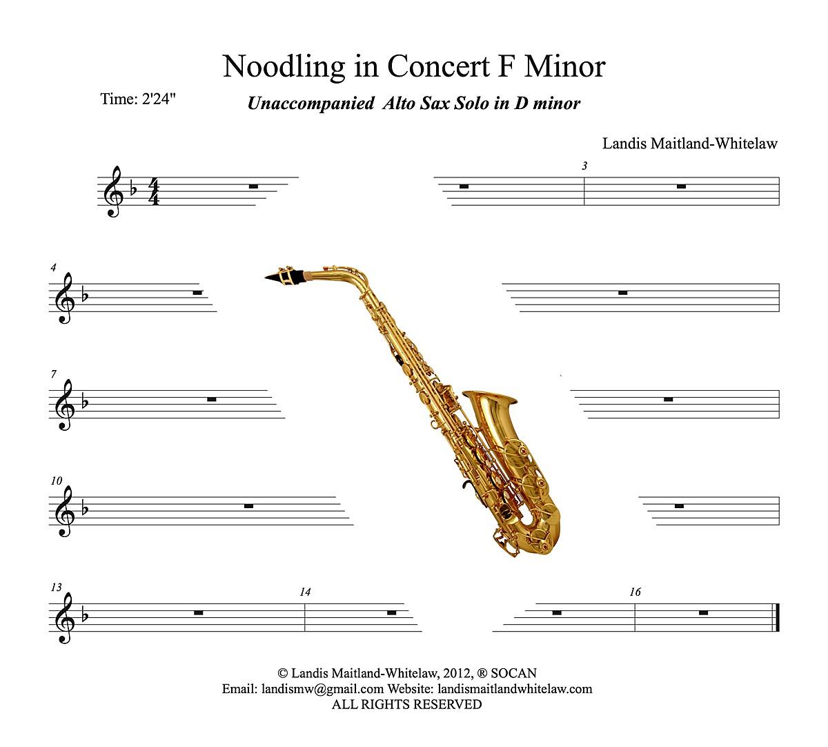Noodling in Concert F minor-Landis Maitland-Whitelaw